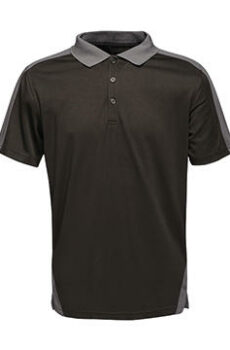 Contrast Coolweave Polo von der Marke Regatta in Black/Seal Grey