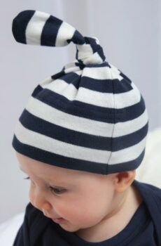 Baby Striped 1 Knot Hat  •  BabyBugz