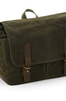 Heritage Waxed Canvas Messenger  •  Quadra
