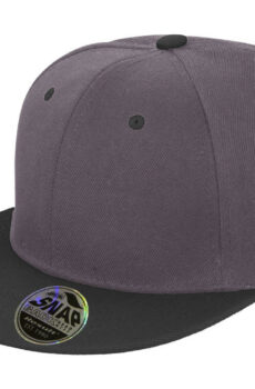 Bronx Original Flat Peak Dual Color von der Marke Result Caps in Heather Grey/Black