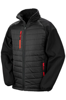 Black Compass Padded Softshell von der Marke Result in Black/Red