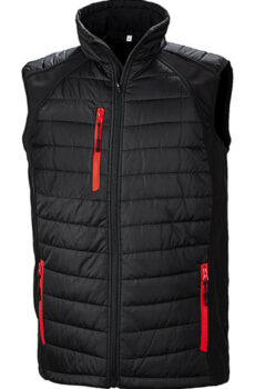 Black Compass Padded Softshell Gilet von der Marke Result in Black/Red