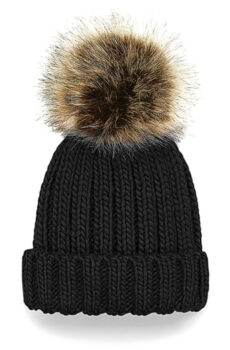 Infant/Junior Fur Pom Pom Chunky Beanie  •  Beechfield