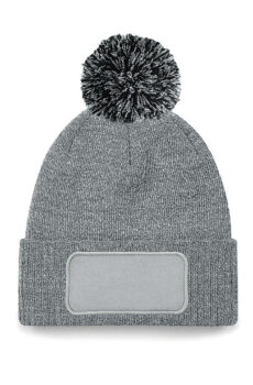 Snowstar Printers Beanie von der Marke Beechfield in Heather Grey/Black