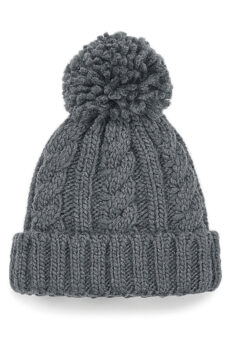 Infant/Junior Cable Knit Melange Beanie  •  Beechfield