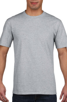 Premium Cotton Adult T-Shirt von der Marke Gildan in Sport Grey