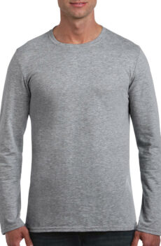 Softstyle® Long Sleeve Tee von der Marke Gildan in Sport Grey