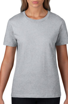 Premium Cotton Ladies` T-Shirt von der Marke Gildan in Sport Grey