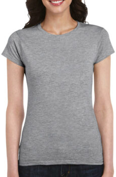 Softstyle® Ladies` T-Shirt von der Marke Gildan in Sport Grey