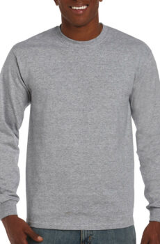 Ultra Cotton Adult T-Shirt LS von der Marke Gildan in Sport Grey