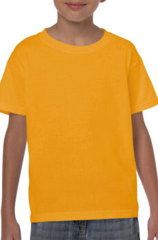 Heavy Cotton Youth T-Shirt von der Marke Gildan in Gold