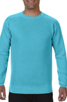 Adult Crewneck Sweatshirt von der Marke Comfort Colors in Lagoon Blue