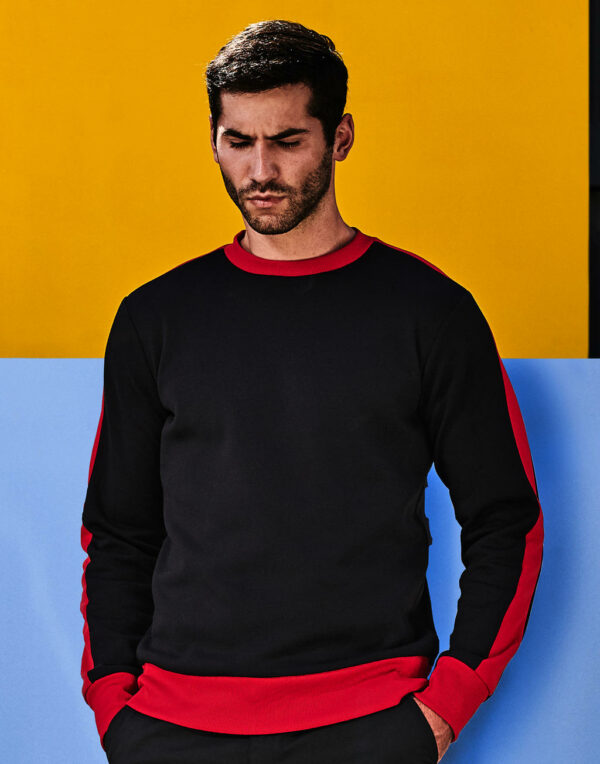 Contrast Polyester Pullover