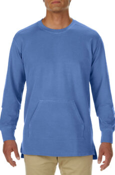 Adult French Terry Crew von der Marke Comfort Colors in Flo Blue