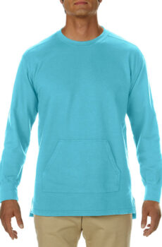 Adult French Terry Crew von der Marke Comfort Colors in Lagoon Blue