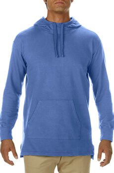 Adult French Terry Scuba Hoodie von der Marke Comfort Colors in Flo Blue