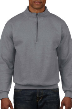 Vintage 1/4 Zip Sweat von der Marke Gildan in Sport Grey