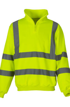 Fluo 1/4 Zip Sweat Shirt von der Marke Yoko in Fluo Yellow