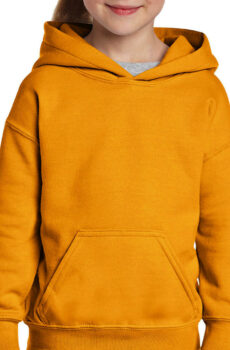 Heavy Blend Youth Hooded Sweat von der Marke Gildan in Gold