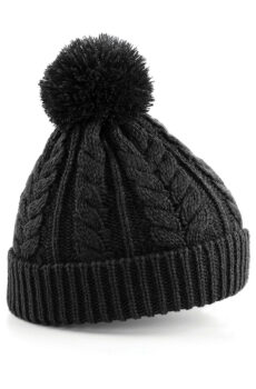 Cable Knit Snowstar Beanie  •  Beechfield