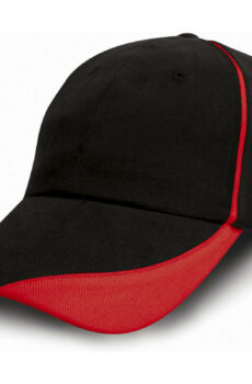 Brushed Cotton Drill Cap von der Marke Result Caps in Black/Red