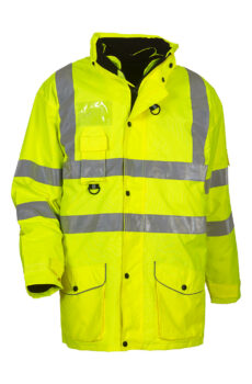 Fluo 7-in-1 Multifunctional Jacket von der Marke Yoko in Fluo Yellow