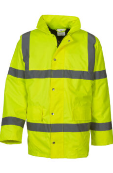 Fluo Classic Motorway Jacket von der Marke Yoko in Fluo Yellow