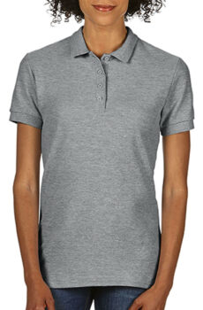 Softstyle® Ladies Double Pique Polo von der Marke Gildan in Sport Grey