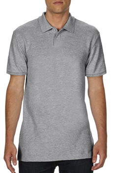 Softstyle® Adult Double Pique Polo von der Marke Gildan in Sport Grey