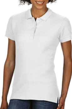 Premium Cotton Damen` Double Piqué Polo  •  Gildan