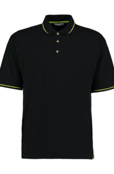 Men`s Classic Fit St. Mellion Polo von der Marke Kustom Kit in Black/Lime