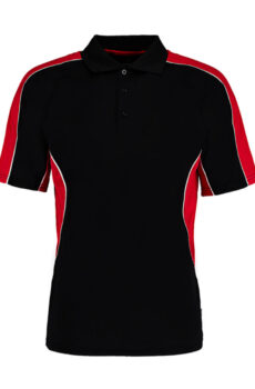 Classic Fit Cooltex® Contrast Polo Shirt von der Marke Kustom Kit in Black/Red