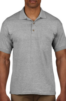 Ultra Cotton Adult Piqué Polo von der Marke Gildan in Sport Grey