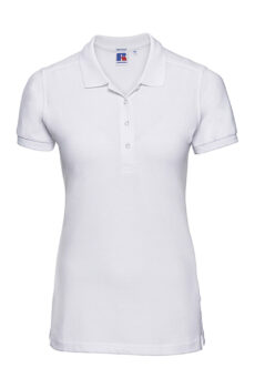 Damen` Fitted Stretch Polo  •  Russell Europe