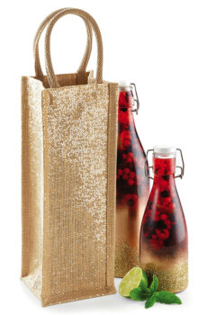 Shimmer Jute Bottle Bag  •  Westford Mill