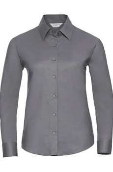 Ladies` Classic Oxford Shirt LS von der Marke Russell Europe in Silver