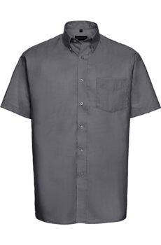 Oxford Shirt von der Marke Russell Europe in Silver