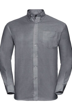 Oxford Shirt LS von der Marke Russell Europe in Silver