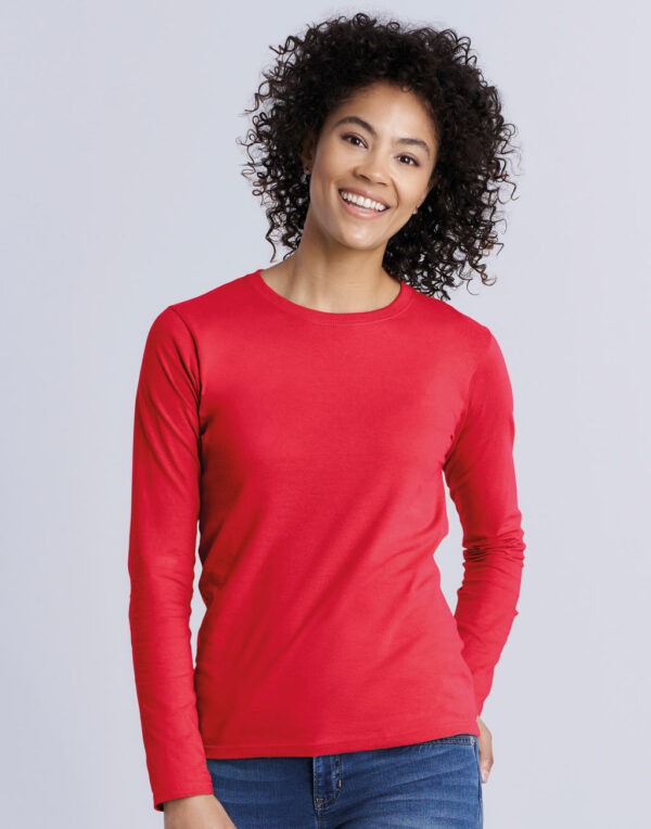 Damen` Softstyle® T-Shirt LS