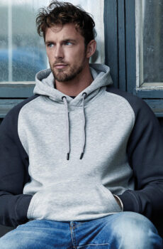 Two-Tone Hooded Pullover