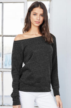 Sponge Fleece Wideneck Pullover