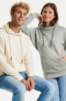 Pure Organic High Collar Hooded Pullover