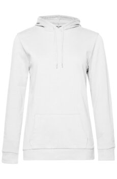 #Hoodie /women French Terry von der Marke B & C in White