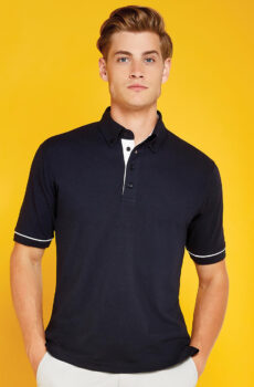 Classic Fit Button Down Contrast Polo Shirt