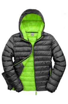 Snow Bird Hooded Jacket von der Marke Result in Black/Lime