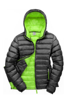 Ladies` Snow Bird Hooded Jacket von der Marke Result in Black/Lime